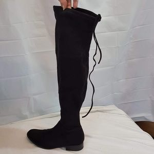 A New Day Thigh High Suede Boots Ties Size 8.5
